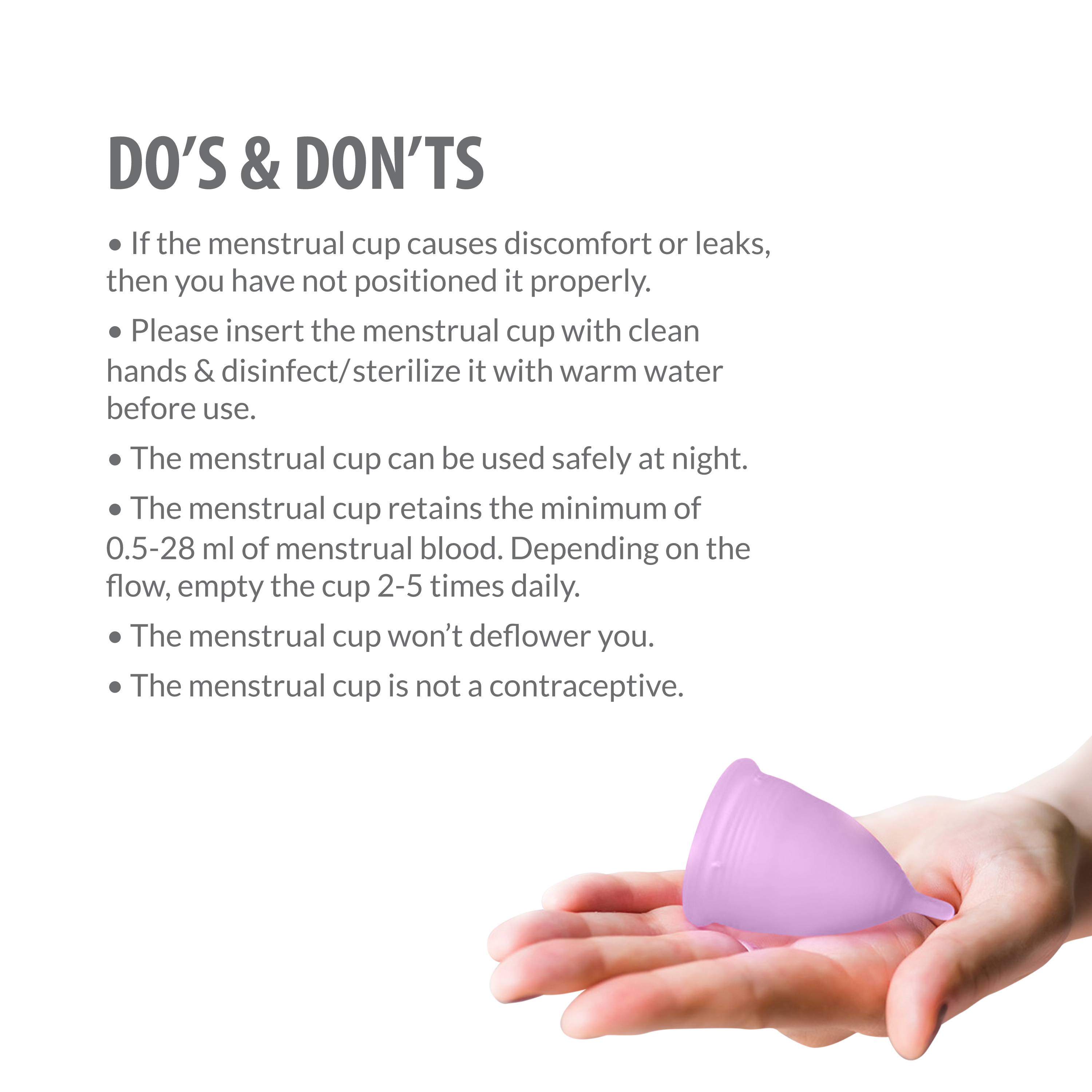 Sirona FDA Approved Reusable Menstrual Cup With Medical Grade Silicone - Large, Pack of 2-375572
