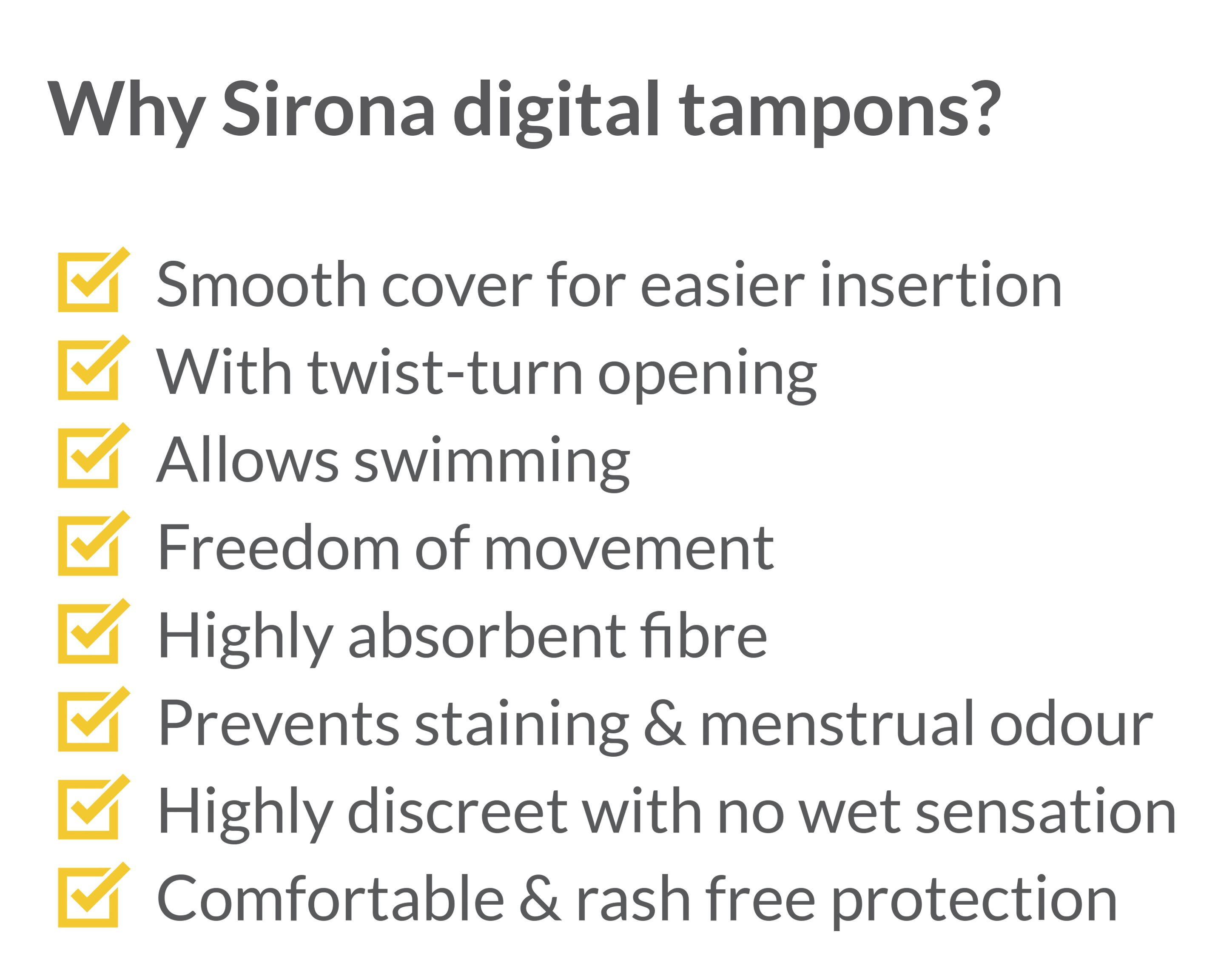 Sirona Premium Digital Tampon Heavy Flow - 12 Pieces-375492
