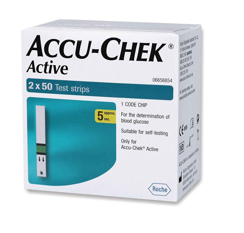 Accu-Chek Active 2 x 50 Test Strips-0