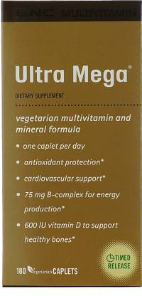 GNC Ultra Mega Vegetarian Multivitamin and Mineral Formula