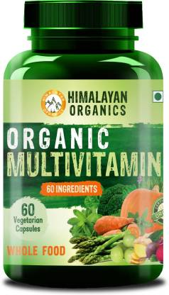 Himalayan Organics Organic Multivitamin with 60+ Certified Organic Extracts  (60 No)
