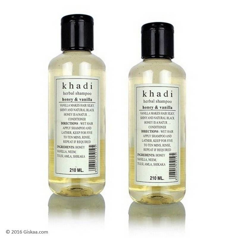 Khadi Natural Herbal Shampoo Honey & Vanilla (Set of 2)-0
