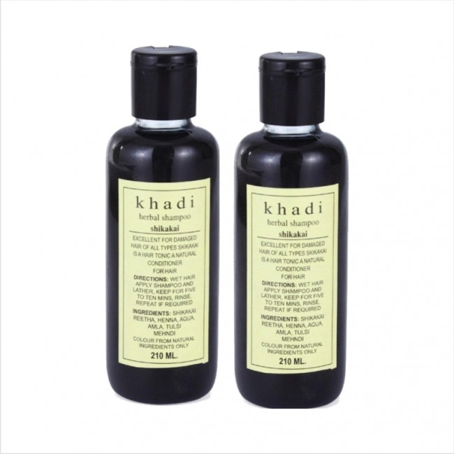 Khadi Natural Herbal Shikakai Shampoo (Set of 2)-0