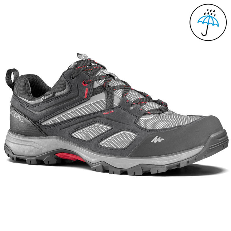 Men's Hiking Shoes MH100 (Waterproof) - Grey