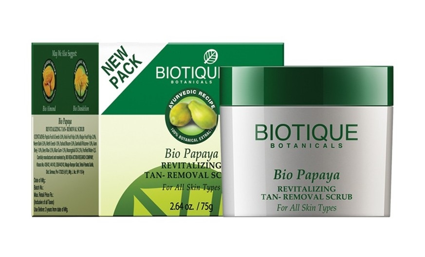 Biotique Bio Papaya Revitalizing Tan Removal Scrub - 75gm-0