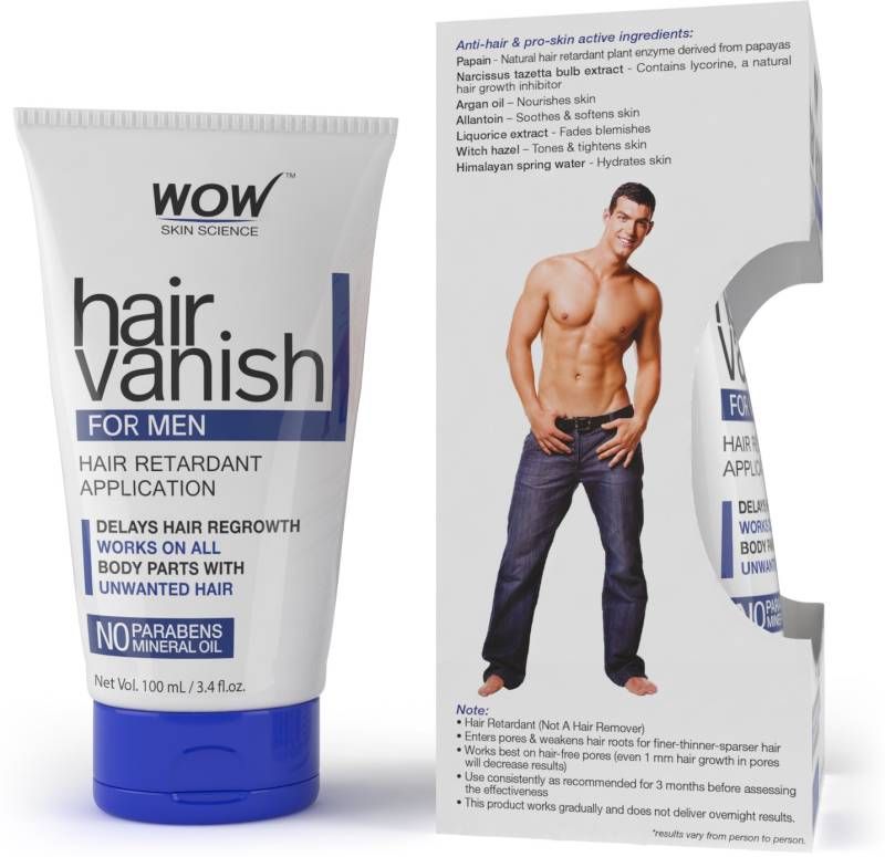 WOW Skin Science WOW Hair Vanish For Men - No Parabens & Mineral Oil (100ml) Cream