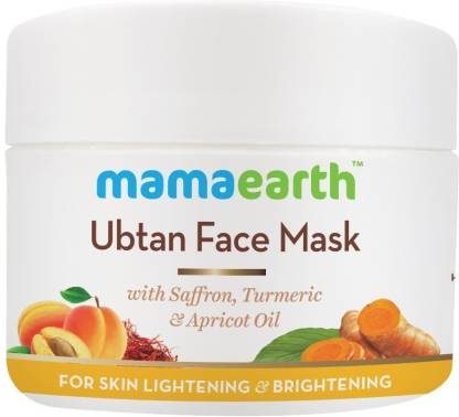 Mamaearth Ubtan Face Pack Mask with Saffron, Turmeric & Apricot Oil, 100 ml