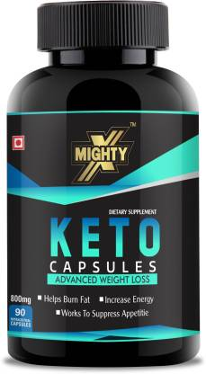 MightyX KETO Advanced Weight Loss Capsules, FAT Burner Supplement, keto diet supplements   Garcinia Cambogia & Green Coffee Bean Extract, 900mg, 90 Capsules