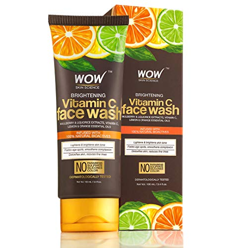 WOW Skin Science Brightening Vitamin C Face Wash - No Parabens, Sulphate, Silicones & Color, 100 ml