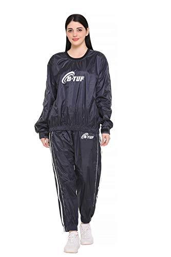 B-TUF Women Sauna Suit Weight Loss Jacket Pant Sports Gym Workout Fitness Slim Sweat Suits BT-135W