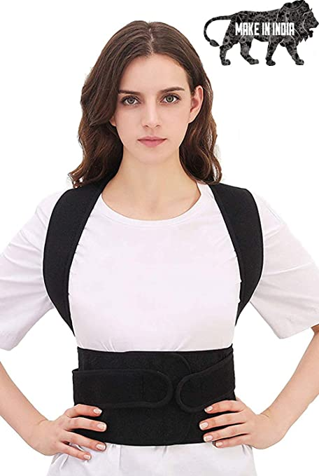 XClub Unisex Magnetic Back Brace Posture Corrector Therapy Shoulder Belt for Lower and Upper Back Pain Relief back support.