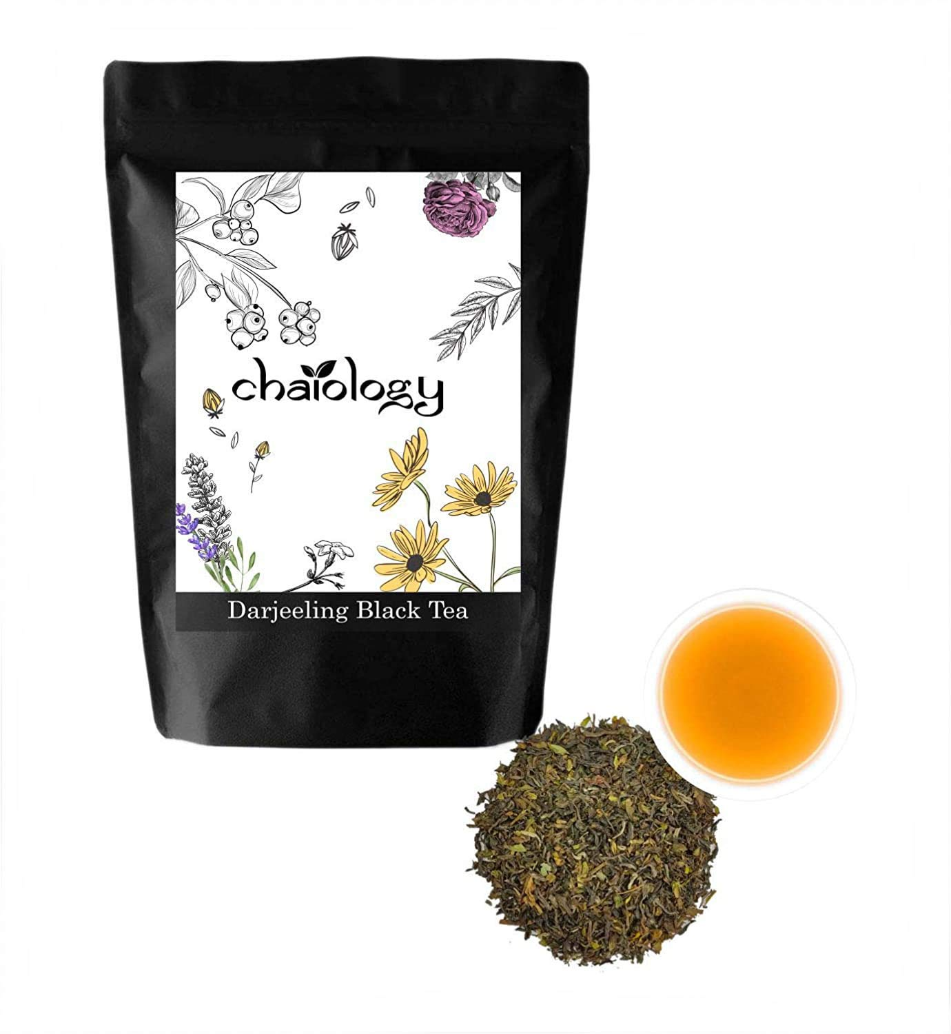 Chaiology Darjeeling Whole Leaf Black Tea, 50g (36 Cups)