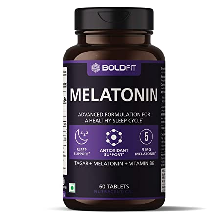 Boldfit Melatonin 5mg with Tagara 125mg (60 Veg Tablets)