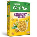 Nestlé NesPlus Breakfast Cereal - Crunchy Flakes with Corn & Oats, 475g Carton