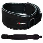 APRODO Unisex 6'' inch Wide Nylon Eva Waist Support Belt Sport Pressurized Weightlifting Bodybuilding Fitness Squatting Training Lumbar Back Supporting Sport Safety Belt - (Black, Small (32))