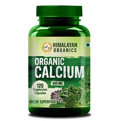 Himalayan Organics Organic Calcium Complex Best Whole Food Supplement for Bone Health 120 Vegetarian Capsules