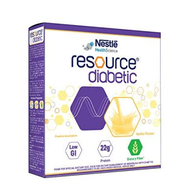 Nestle Resource Diabetic Food for Dietary Management of Individuals With Diabetes- 200g Bag-in-Box Pack (Vanilla Flavour)