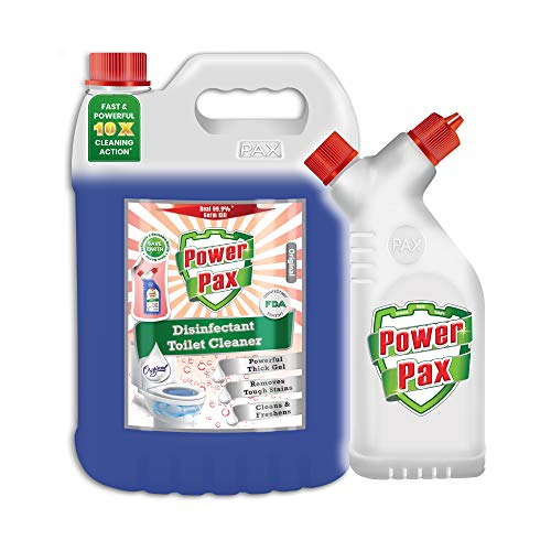 PaxChem PowerPax Disinfectant Toilet Cleaner (Original), 5L combo with Refillable and Reusable Bottle