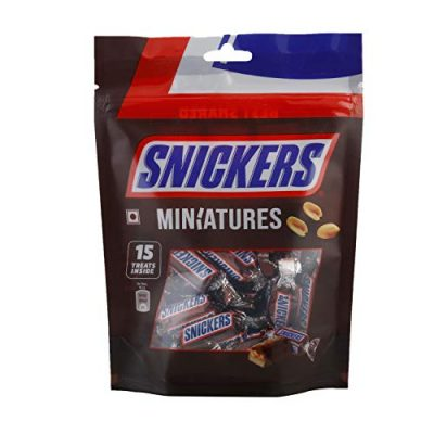 Snickers Chocolate Miniatures - Peanut Filled, 150g Pouch