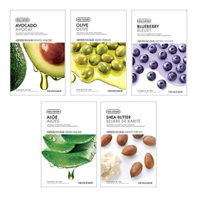 The Face Shop Unisex Glowing Masksheet Combo, 100 g (Pack of 5)