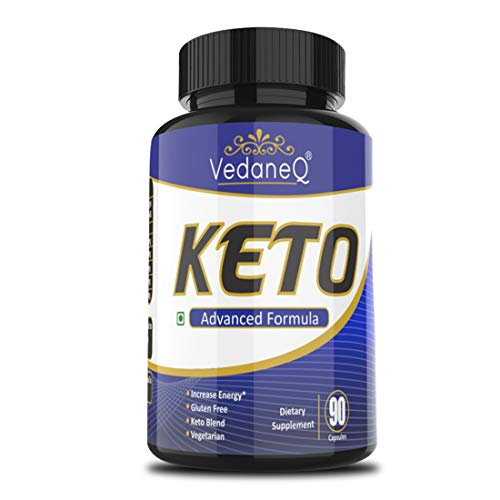 VedaneQ Keto Capsules Advanced & Natural Weight Supplement 800mg   Garcinia Cambogia, Green Tea, Green Coffee, Black Pepper & Apple Cider Vinegar Extracts for Men & Women 90 Capsules (1)