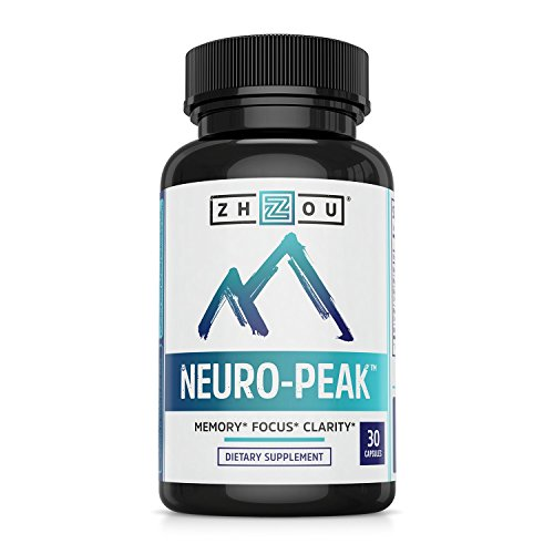 Zhou Nutrition Natural Brain Function Support For Memory, Focus & Clarity - Mental Performance Nootropic Dmae, L-Glutamine & More