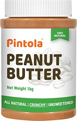 Pintola All Natural Crunchy Peanut Butter, 1Kg