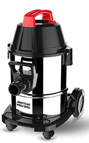 American MICRONIC AMI-VCD21-1600WDx- 21 Litre Stainless Steel Wet & Dry Vacuum Cleaner with Blower & HEPA Filter, 1600 Watts 100% Copper Motor 28 KPa Suction with Washable dust Bag (Red/Black/Steel)