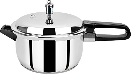 Pristine Stainless Steel Induction Base Pressure Cooker (5 L, Silver)