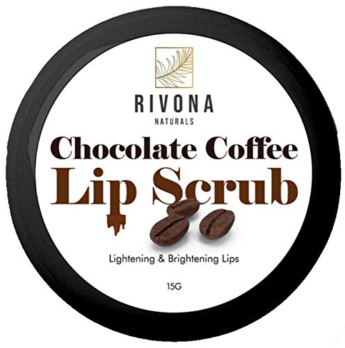 Rivona Naturals Chocolate Coffee Lip Scrub for Lightening, Brightening and Healing Lips, Tan Removal - 15 g