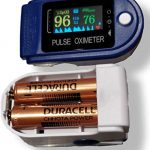 Tamizhanda 98% Accurate Oximeter, Powerful DURACELL battery inside, for pulse oximeter | Blue