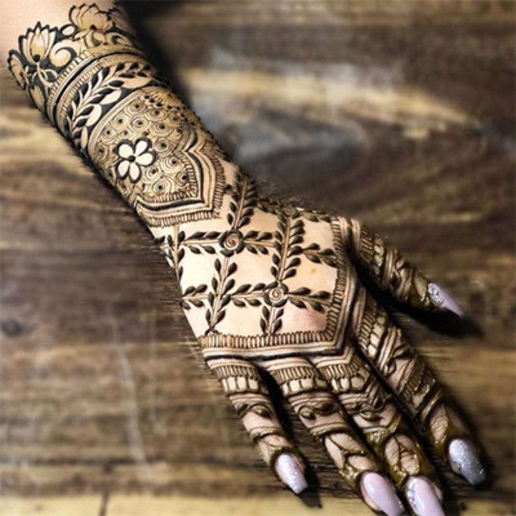 simple mehendi design images