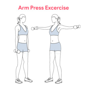 Breast Badhane Ke Gharelu Upay- Arm Press