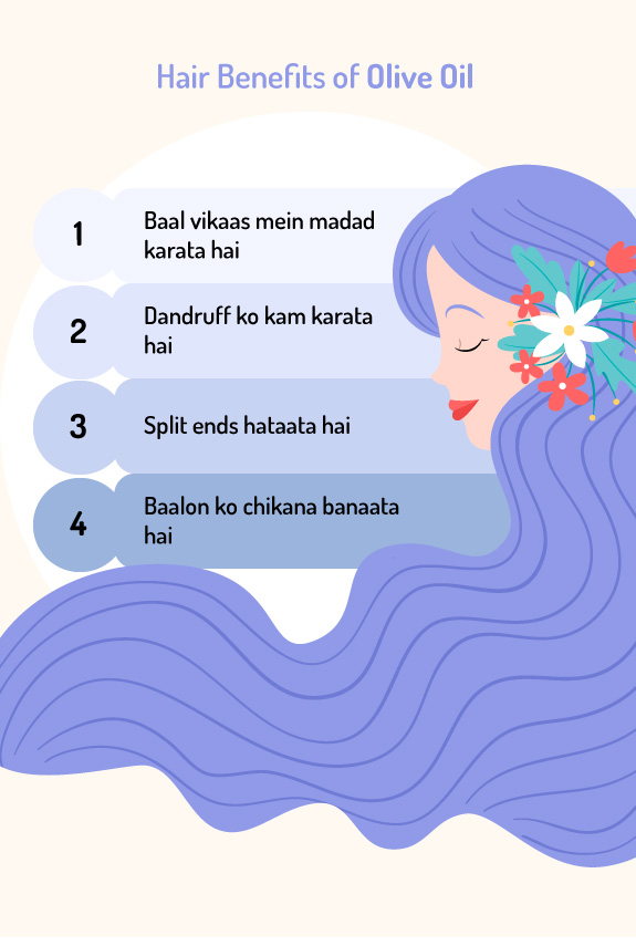 Hair Benefits of Olive Oil in Hindi